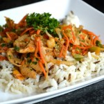 Wok met kip en quinoa